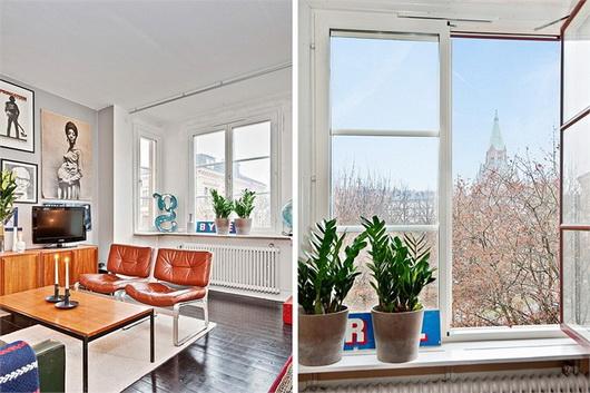 Un monolocale vintage di 40 mq casa e trend for Planimetrie aggiunte casa