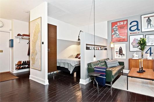 Un monolocale vintage di 40 mq casa e trend for Monolocale di 40 mq