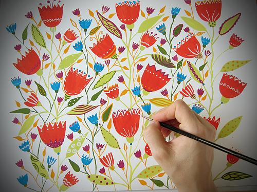 Gli illustratori del Calendario di Casa e Trend, febbraio - Petra Kern