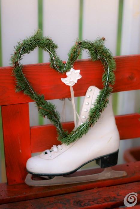 Addobbi natalizi per l'esterno, il romantico inverno