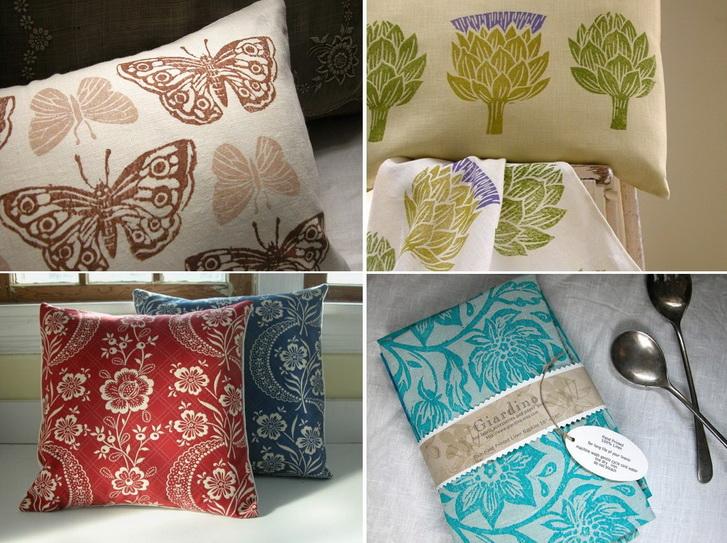 Idee per i regali di natale - i tessili per la casa stampati a mano