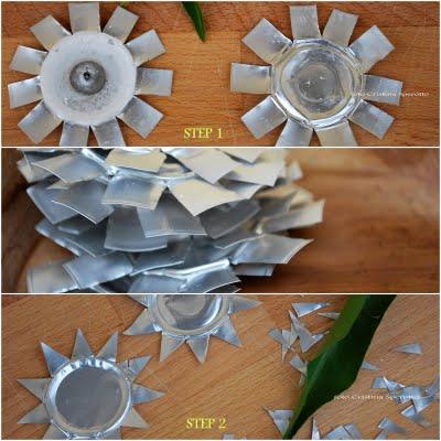 Novoletni okraski iz recikliranih materialov - čajne lučke
