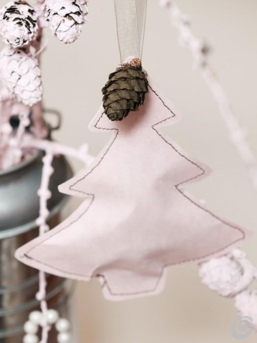 Addobbi natalizi per l'albero da cucire