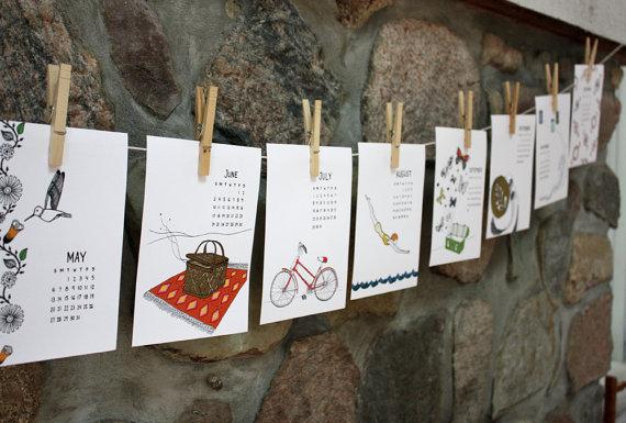 I calendari d'autore - quelli piccoli, fatti con carta di qualità