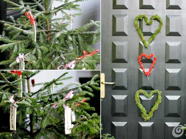 Addobbi natalizi per la porta e gli esterni casa e trend - Candele per esterno ...