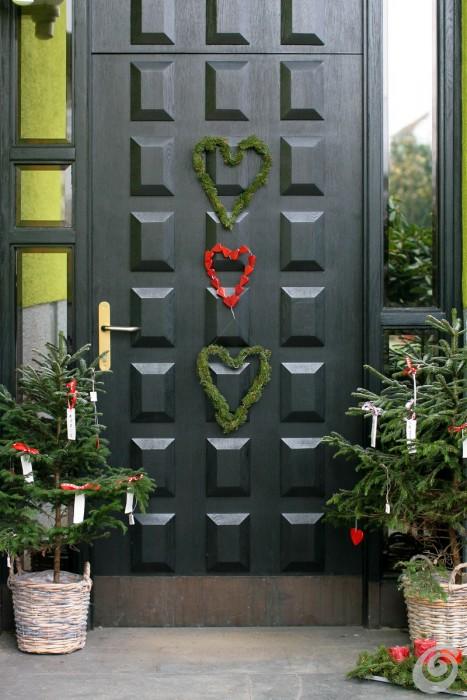 Addobbi natalizi per la porta e gli esterni