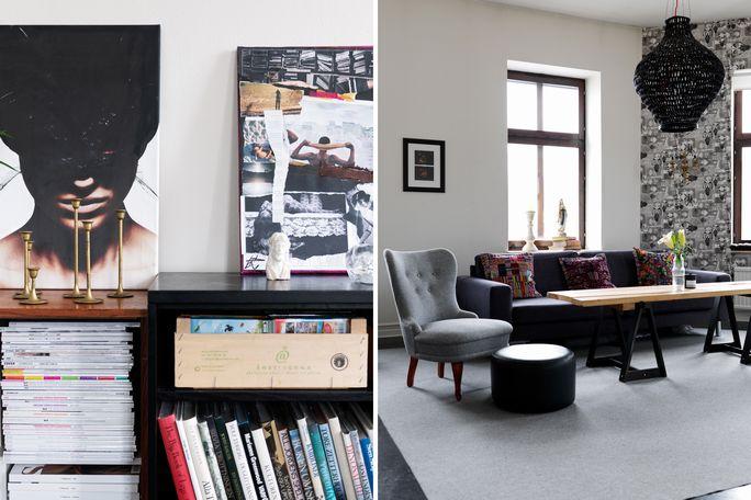 Divani Bianchi E Neri : Bianco e nero design e recupero per una casa informale u casa e trend