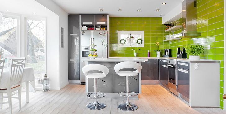 Moderne kuhinje in barve dom in stil for Muri colorati moderni