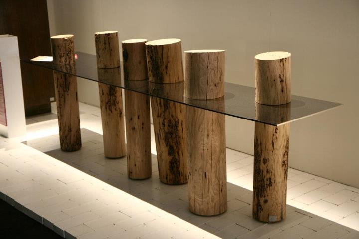 Tavoli Di Vetro E Legno : Tavoli in legno grezzo di design tavolino da salotto quadrato in