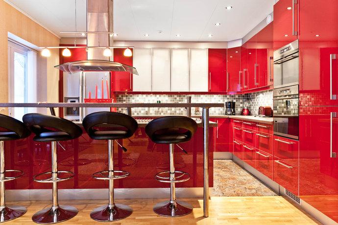 Camere Da Letto Rosse E Bianche : Le cucine moderne colorate u2013 casa e trend