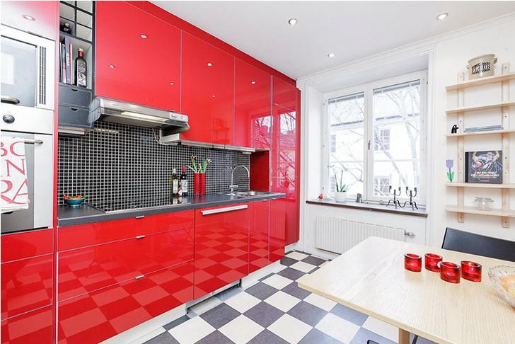 Pavimento Rosso E Bianco : Le cucine moderne colorate u casa e trend