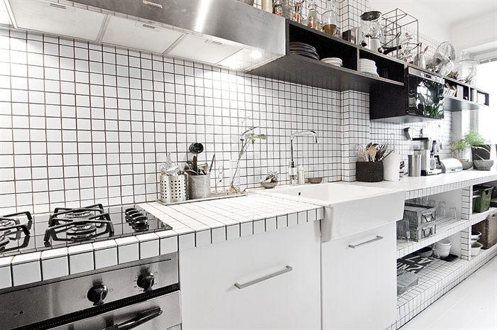 Cucine In Muratura Bianche. Beautiful Cucina In Stile Moderno Isola ...