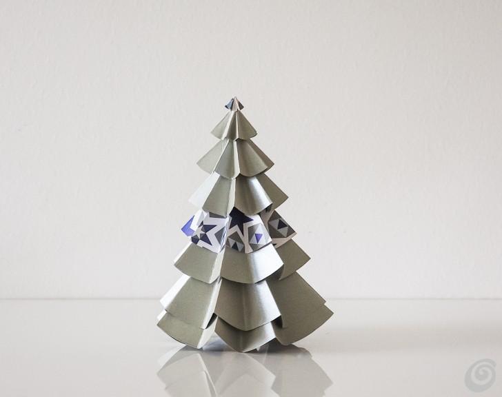 Decorazioni Ufficio Natale : L albero di natale origami u casa e trend
