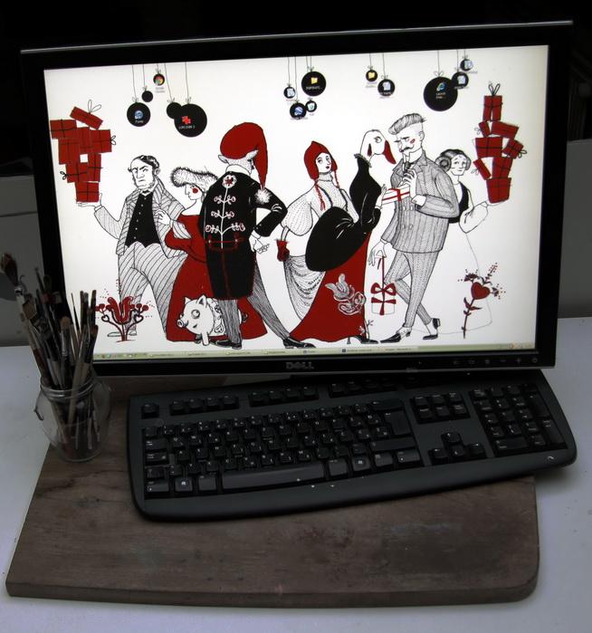 Lo sfondo desktop natalizio