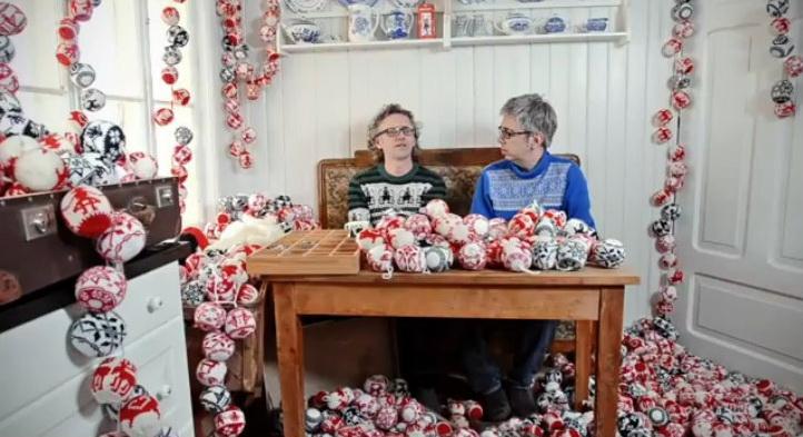 Tutorial per addobbi natalizi a maglia u casa e trend
