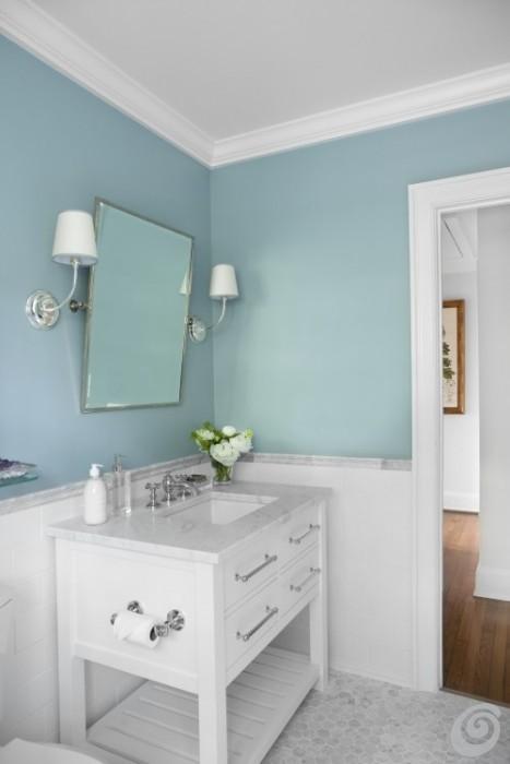 Idee per ristrutturare un bagno piccolo ma completo casa - Altezza mattonelle bagno ...