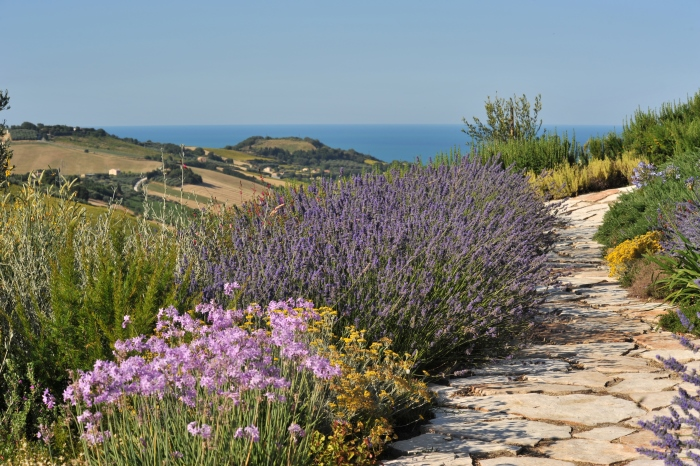 Un giardino mediterraneo col mare sullo sfondo casa e trend for Soluzioni ombra giardino