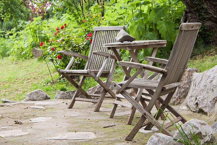arredo giardino legno  wood in garden