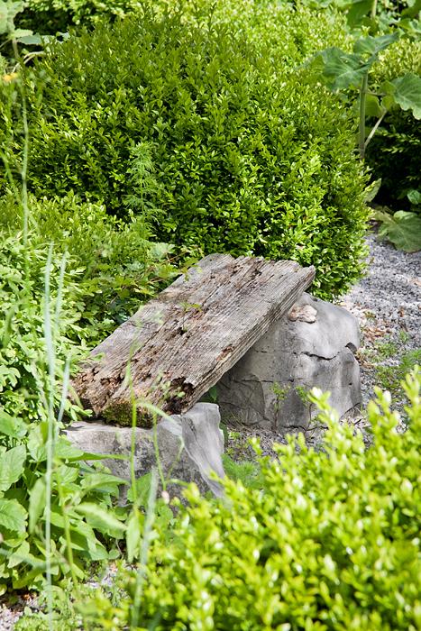 arredo giardino legno panca stone and wood bench garden