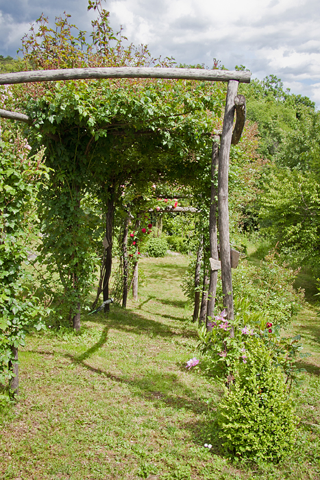arredo giardino legno pergola wood fence garden