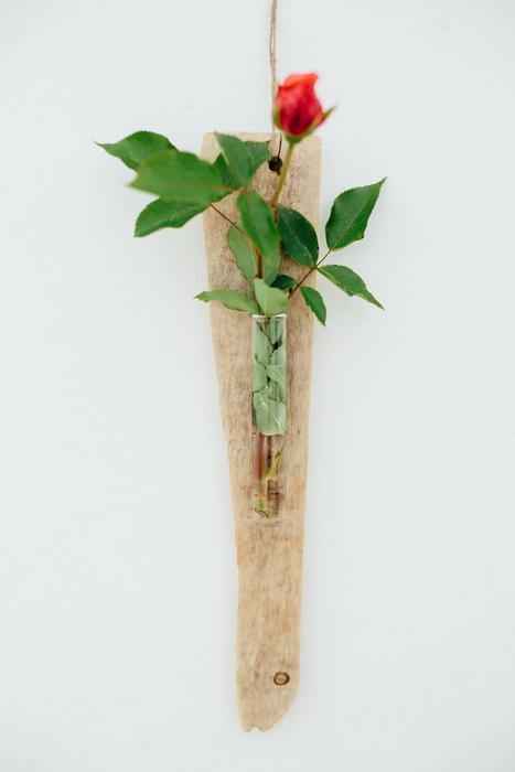 legno spiaggiato fai da te driftwood diy wall vase vaso parete