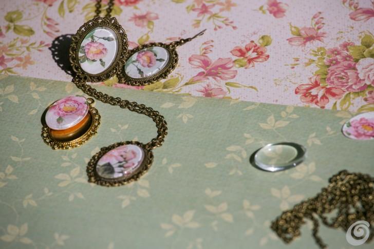 bigiotteria collana orecchini fai da te jewels DIY medaillons
