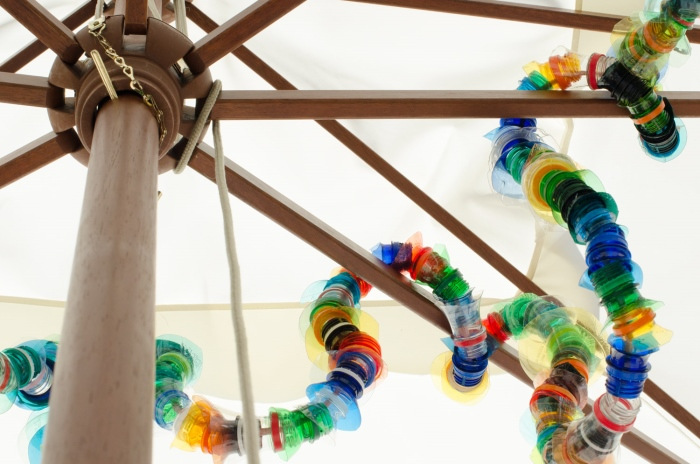 DIY plastic bottle recycle garland ghirlanda bottiglie plastica