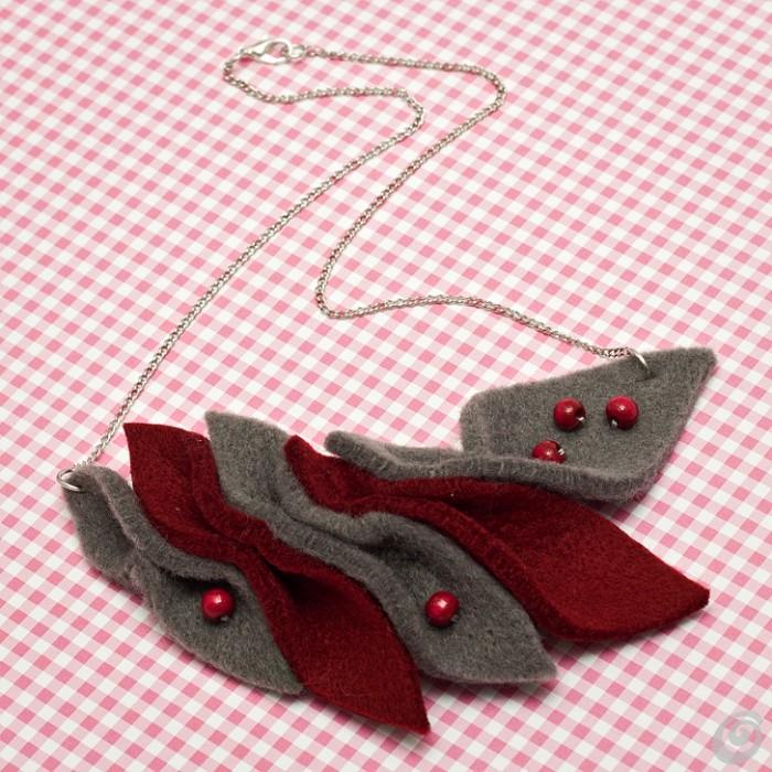 Idee regalo natale fai da te la collana in feltro casa for Regalo oggetti usati