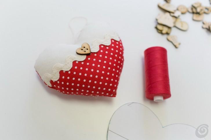 Amato Il cuoricino di stoffa fai da te – Casa e Trend BC27