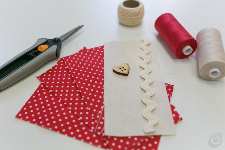 Il cuoricino di stoffa fai da te casa e trend - Riciclare tutto in casa ...