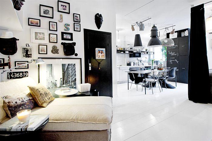 Pareti Con Foto In Bianco E Nero : Come arredare un appartamento piccolo in bianco e nero u casa e trend