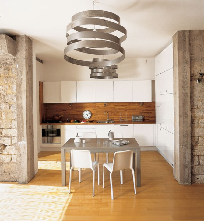 Parete pietra cool colore parete soggiorno bianco nuove idee per la casa decorazioni in pietra - Decorazioni in pietra per interni ...