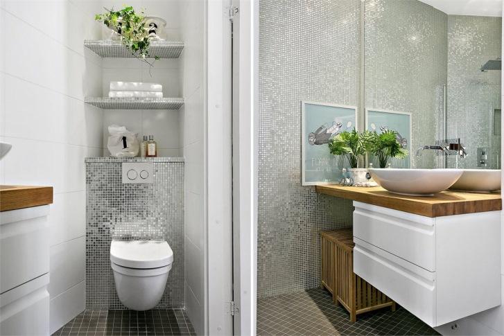 Idee per arredare un bagno piccolo casa e trend for Arredare bagno piccolo con lavatrice