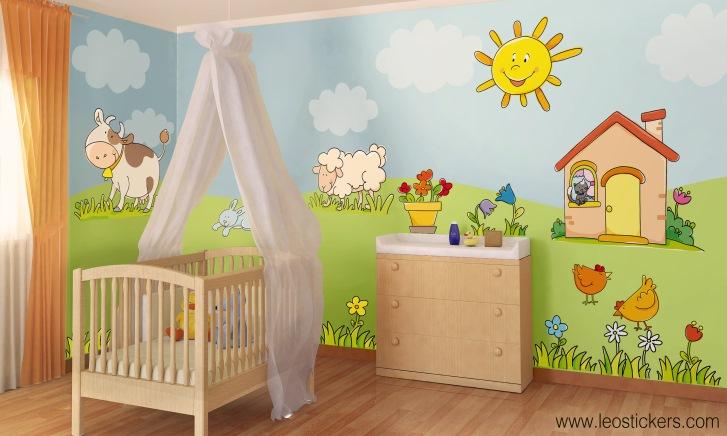 Stickers per camerette bambini adesivo murale bambino - Adesivi murali per camerette bimbi ...