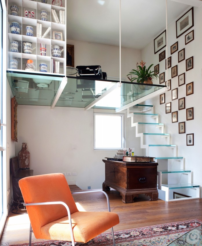 4 idee per guadagnare spazio in casa con un letto a for Letto con soppalco